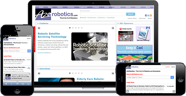 AZoRobotics.com screenshots