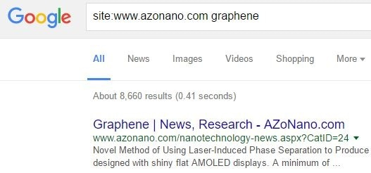 Graphene Site Search