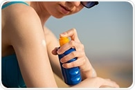 Dermatologist gives tips to safely use stick and spray sunscreen