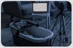 White noise listening device for monitoring infant breathing